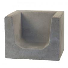 U-Elementen grijs hoeksteen