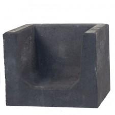 U-Elementen zwart hoeksteen