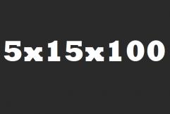 Opsluitband 5x15x100