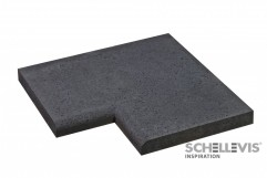 Schellevis Zwembadrand Carbon Hoekstuk voor 100x40x5
